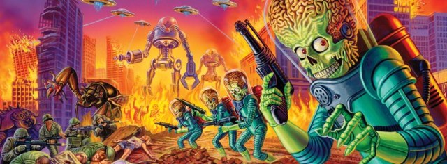 Mars Attacks banner art