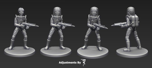 Martian pose 1 stl render